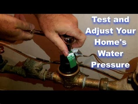 House Water Pressure test and adjust your home s water pressure by home repair tutor