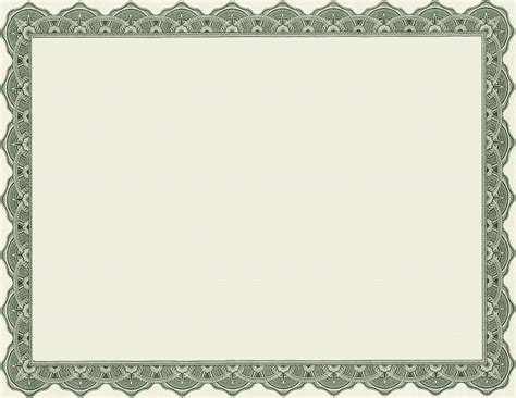 blank certificate templates free 4 best images of printable of blank certificate borders