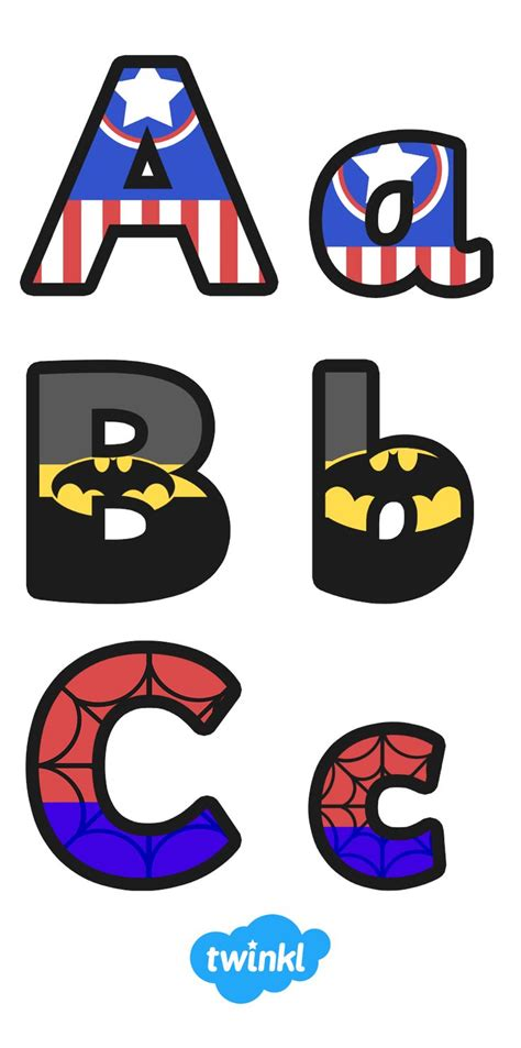 free printable alphabet letters for classroom display best 25 superhero letters ideas on pinterest super hero