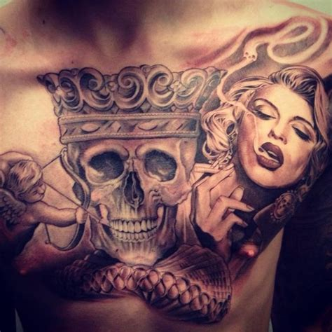 tattoo chest chicano lowrider studios and chest piece on pinterest
