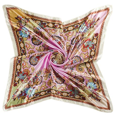 square silk scarf for luxury designer brand