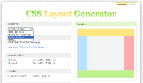 Html And Css Layout Generator | 13 design tool online membantu anda membina blog web