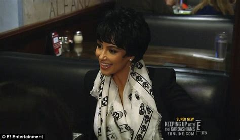 does chris jenner wear a wig kim kardashian dons an array of wigs as she struggles to