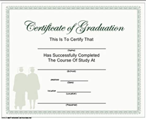 graduation gift certificate template free graduation gift certificate template free