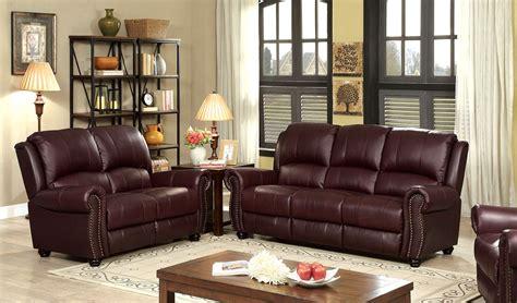 Carlton Traditional Burgundy Sofa In Top Grain Leather