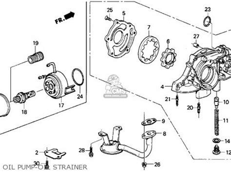 honda crx   dr  kakl parts list partsmanual partsfiche