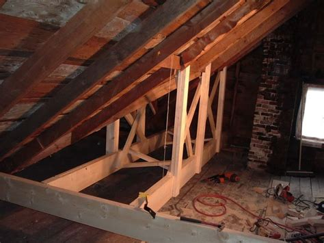 Reinforcing Floor Joists by Added Trusses To Reinforce The Roof Diy Home