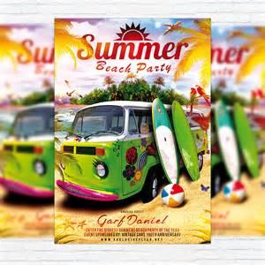 summer beach party premium flyer template facebook