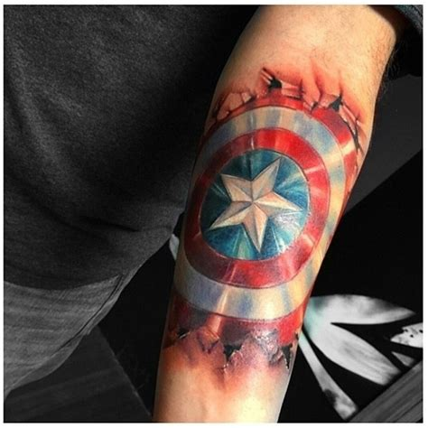 captain america tattoo captain america shield best ideas gallery