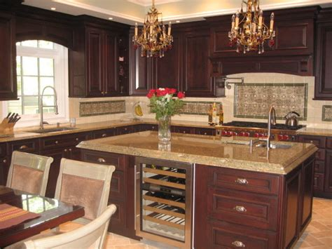 raised panel kitchen cabinets cherry raised panel cabinetry with traditional wood hood