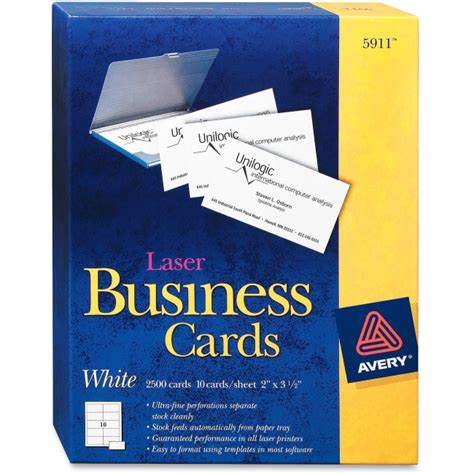 avery 5911 business card for laser print 2 quot x 3 50