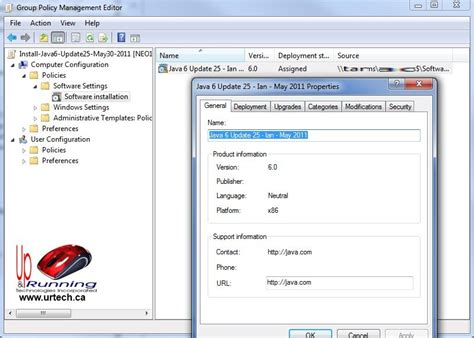gpo console how to deploy oracle sun java silently in a corporate