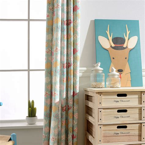 kids room drapes children elephant blackout curtains for kids bedroom