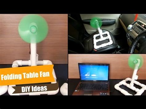 electric fan pipe table fan pvc pipe projects diy ideas how to