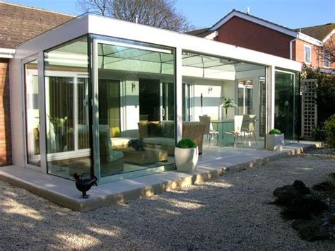 modern conservatory nice way to use large steel windows for a bright and