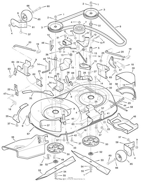 murray parts diagram murray 42819a lawn tractor 1996 parts diagram for
