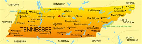 tennessee on map tennessee map guide of the world