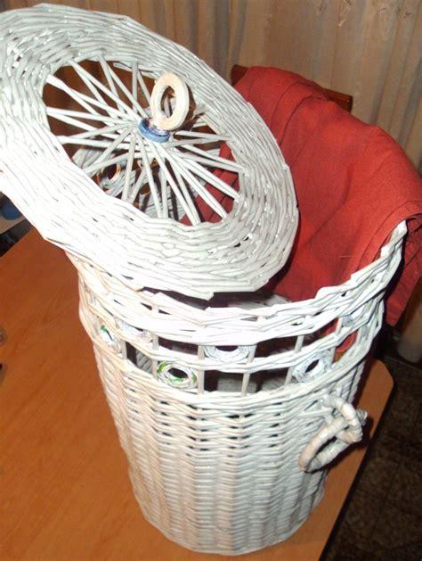 gaby mi ensayo de reciclaje cesto para la ropa hecho con papel de peri 243 dico