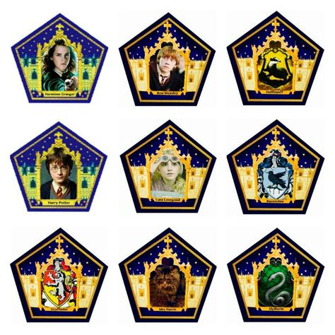 harry potter wizard cards template 25 images of chocolate frog wizard card template