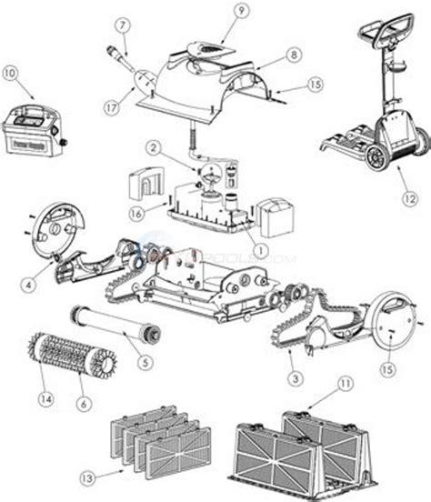 kreepy krauly parts diagram kreepy krauly prowler 820 parts inyopools