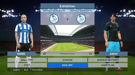 desain jersey gaming sheffield wednesday home away kits image pes 16