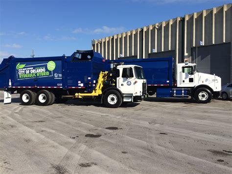 Orlando Unveils Clean Garbage Trucks Orlando Sentinel