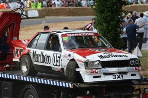 Brock's 1982 Commodore crashes at Goodwood   Speedcafe