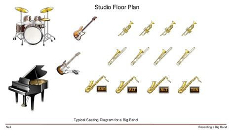Piano Floor Plan by Recording A Big Band