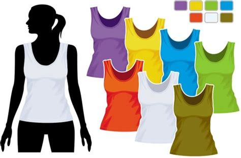 women39s vest template 01 vector free vector in