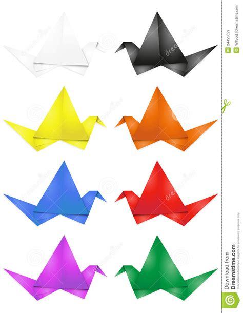 Origami How To Do - origami do p 225 ssaro imagens de stock royalty free imagem