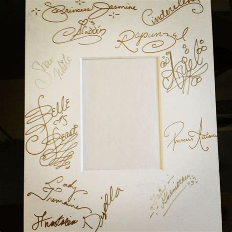 Autograph Photo Mat by We Took The Photo Mat To Disney And Asked The Princesses To Autograph It One Of Favs