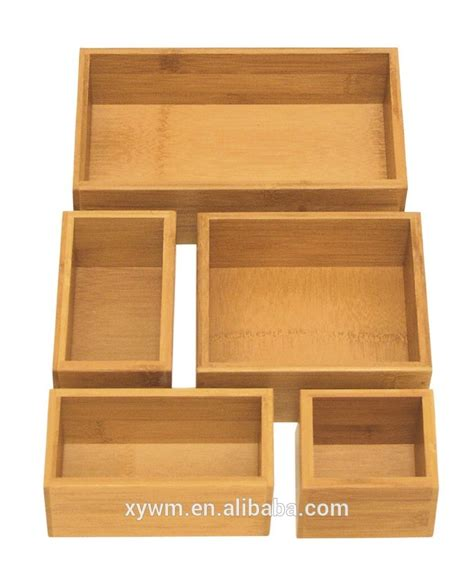 Wooden Drawer Organizer by Seville Classics Bamboo Wooden Drawer Organizer Storage