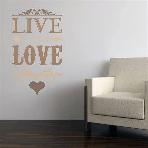 live laugh wall stickers by the binary box - Live Laugh Wall Stickers