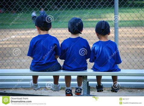 bench warmers baseball bench warmers royalty free stock photography