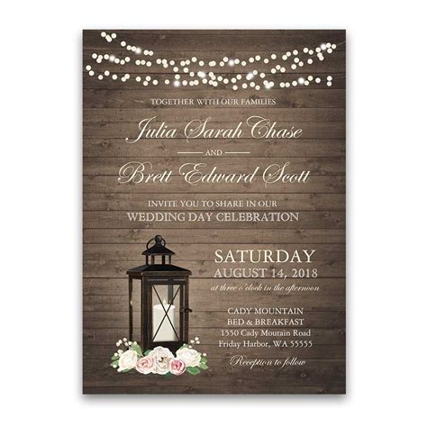 Rustic Wedding Invitations by Rustic Wedding Invitation Archives Noted Occasions