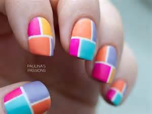 color block nails color block nail with striping