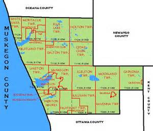 Michigan Public Land Map by Cf Map Muskegon County