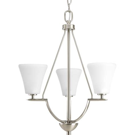 Brushed Nickel Foyer Light progress lighting bravo collection 3 light brushed nickel foyer pendant p3821 09 the home depot