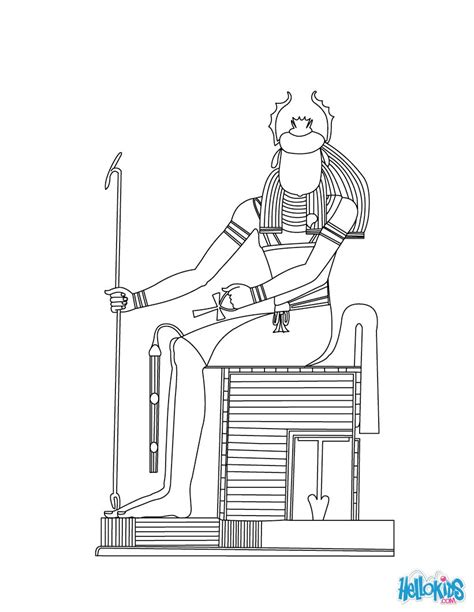 thot egyptian goddess gods coloring page coloring