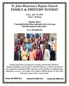 Family and friends day at church