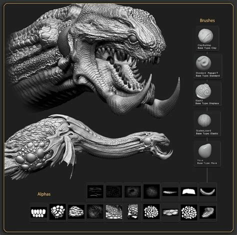zbrush tutorial creature 41 best dragon texture stalker images on pinterest kite