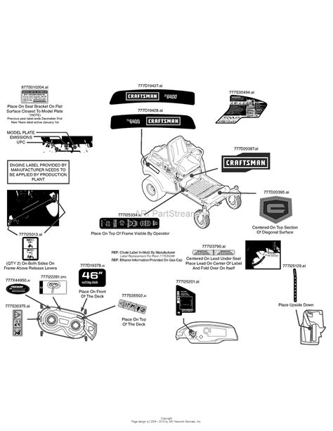 craftsman lt2000 parts diagram craftsman lt2000 mower deck parts 46 diagram craftsman