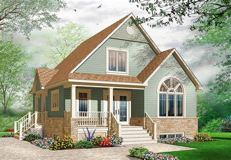 cozy cottage plans cozy cottage with covered porch 21735dr architectural