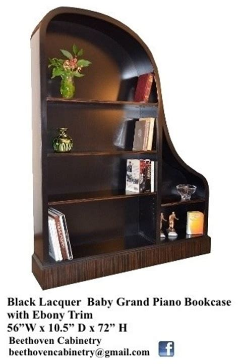 baby grand piano bookcases eclectic furniture