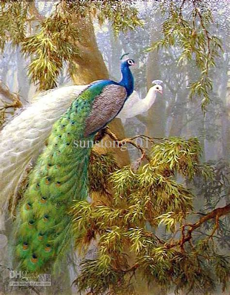 Painting 200x80cm 2 Peacock beautiful peacock painting animal paints handmade painting home decoration wall
