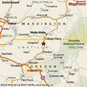 milton freewater oregon map milton freewater oregon