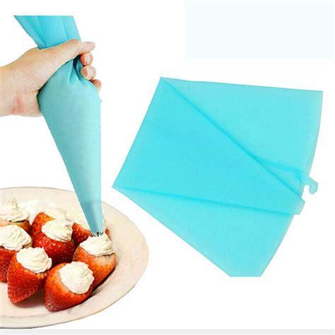 1pcs Piping Bag Silikon 1pcs silicone reusable icing piping pastry bag cake decorating tool diy cupcake patisserie