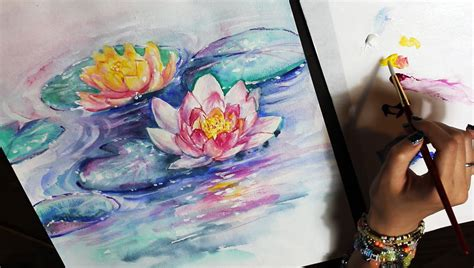 What Do The Water Colors In A Foot Detox by Watercolor Painting Time Lapse Abstract Water Lilies