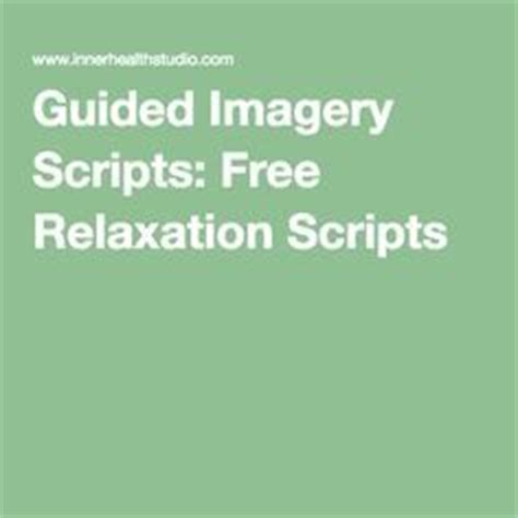 Free Printable Guided Imagery Scripts