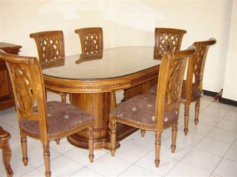 Meja Makan Ukiran Jati kursi meja makan jati ukir set salina gendong laba laba